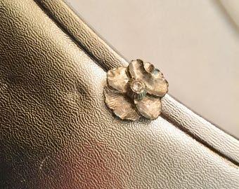 1960s Silver Flower Clutch