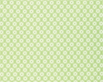 SALE 1/2 yd Lola PWTW105 Green Little Flowers by Tanya Whelan for Free Spirit