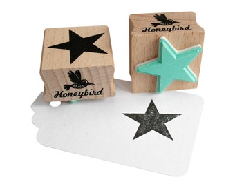 Star solid stamp, star stamp, star rubber stamp, star ink stamp, Christmas stamp, Christmas star stamp