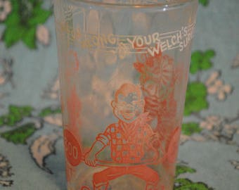 1953 Welch's jelly jar Howdy Doody glass