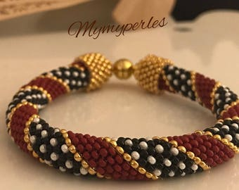 Peyote woven bracelet