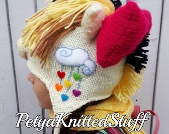 Songbird Serenade inspired hat, My Little Pony hat, Songbird Serenade hat, My Little Pony Costume, MLP Songbird Serenade hat, MLP hat