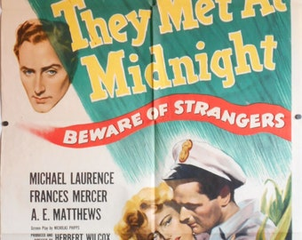They Met At Midnight - AKA Piccadilly Incident - 1949 - Original US one sheet movie poster