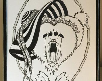 Mama Bear BEWARE!, A4 Print, Digital Art, Mother's Day, Mama Bear, Gift
