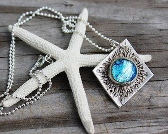 Cool Jewelry, Midnight Solstice Pendant, Blue Moon, Gift for Her