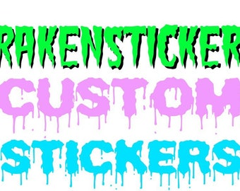 Custom Stickers - 5 inches laminated