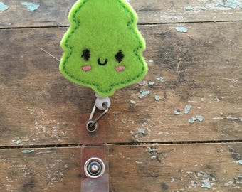 Christmas tree ID badge reel holder retractable clip