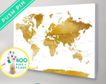 World map canvas push pins countries capitals usa and push pins world map canvas watercolor gold countries capitals usa states push gumiabroncs Image collections