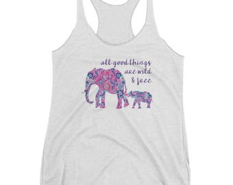 All Good Things - Mother and Baby Women's Racerback Tank