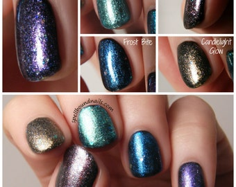 MINI Winter Is Coming Collection - Custom Interference Iridescent Glitter Topper Nail Polish