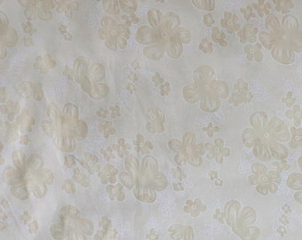 SALE - Fabric -Semi sheer cream floral burn out cotton – 1.70m piece