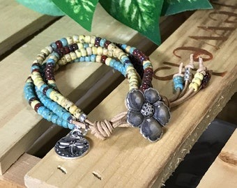 Margarita Ville II, Bohemian Bracelet, Boho Bracelet, Seed Bead Bracelet