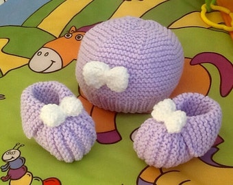 Beanie Baby booties knit baby gift newborn baby knitting wool