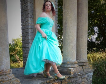 Fairy-tale Chiffon Mint Blue Ball Gown Fit For A Princess