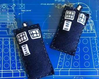 Dr. Who Tardis Cat Toy with Catnip and Jingle Bell