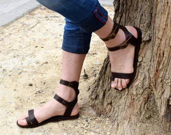 Handmade Sandals, Greek leather sandals, Men brown sandals, Men Sandals, Genuine Leather sandals, Sport Sandals, MAXIMOS Sandals,
