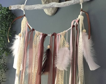 Chocolate and pink Dreamcatcher
