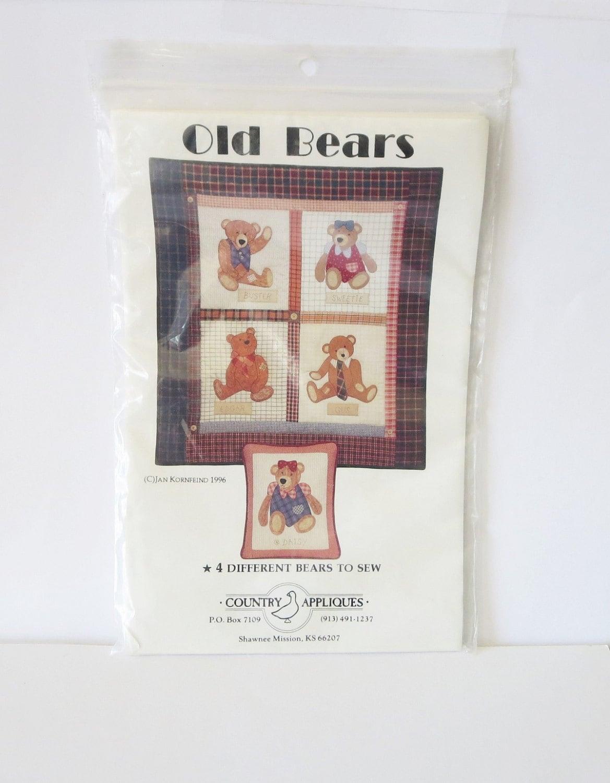 VENTA Osos viejos patrón 4 osos diferentes para coser de