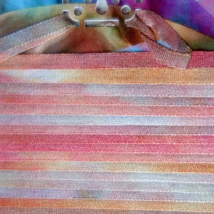 Sandstone Hand Dyed Silk Ribbon 4mm