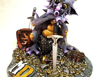 MD CLASSIC PHOTOPRINT- Purple Treasure Dragon