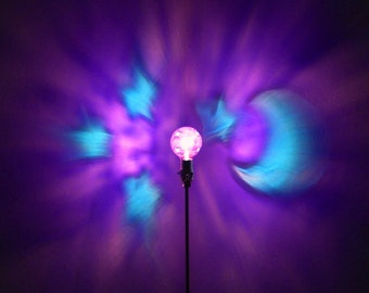 Moon Stars Blue Purple Painted MoodLight Bulb/Love You to the moon and back/Night Light/Mood Light/Kids Lamp/Baby/Dream Room/Celestial Moon