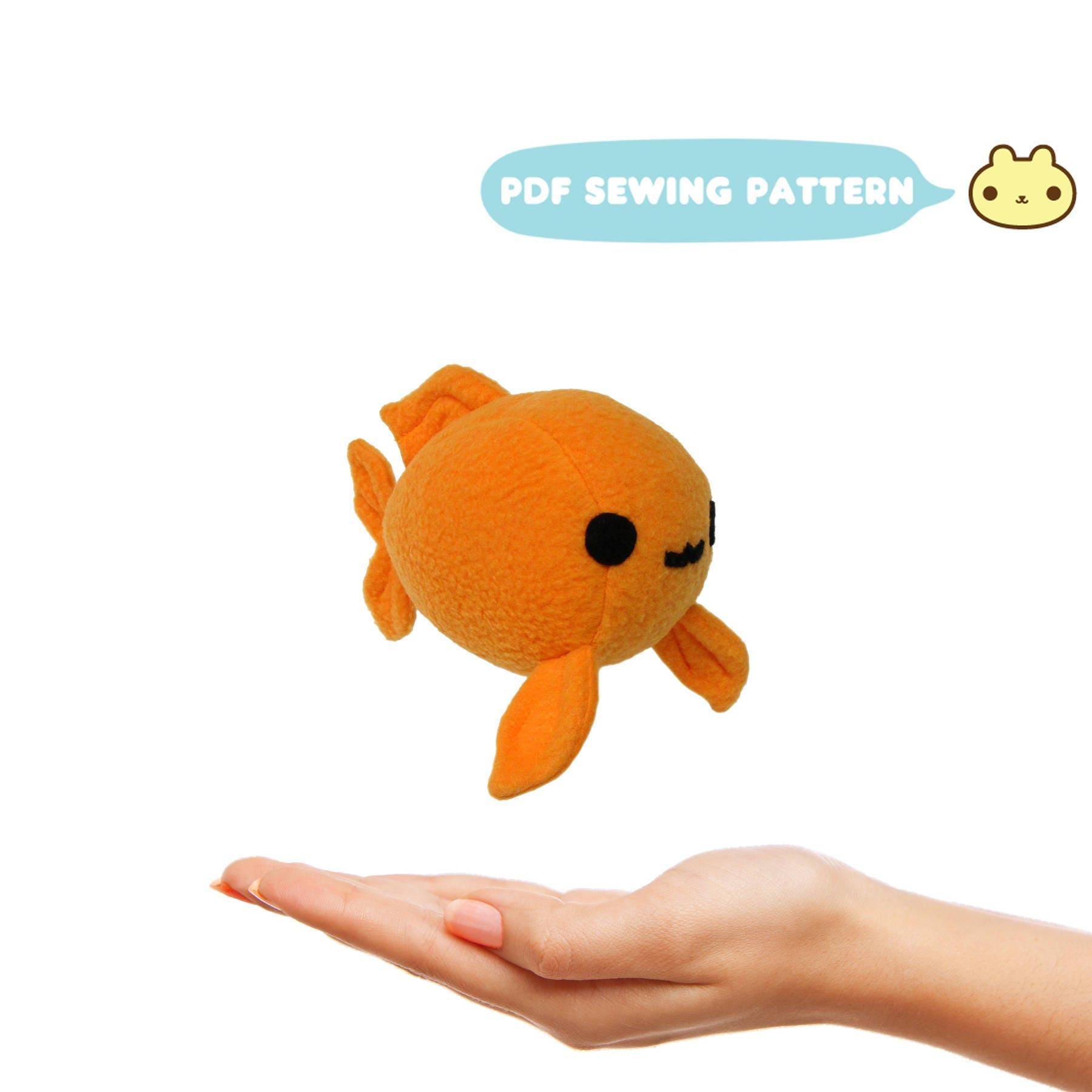 Plush sewing pattern koi mini pattern kawaii fish pdf zoom jeuxipadfo Image collections