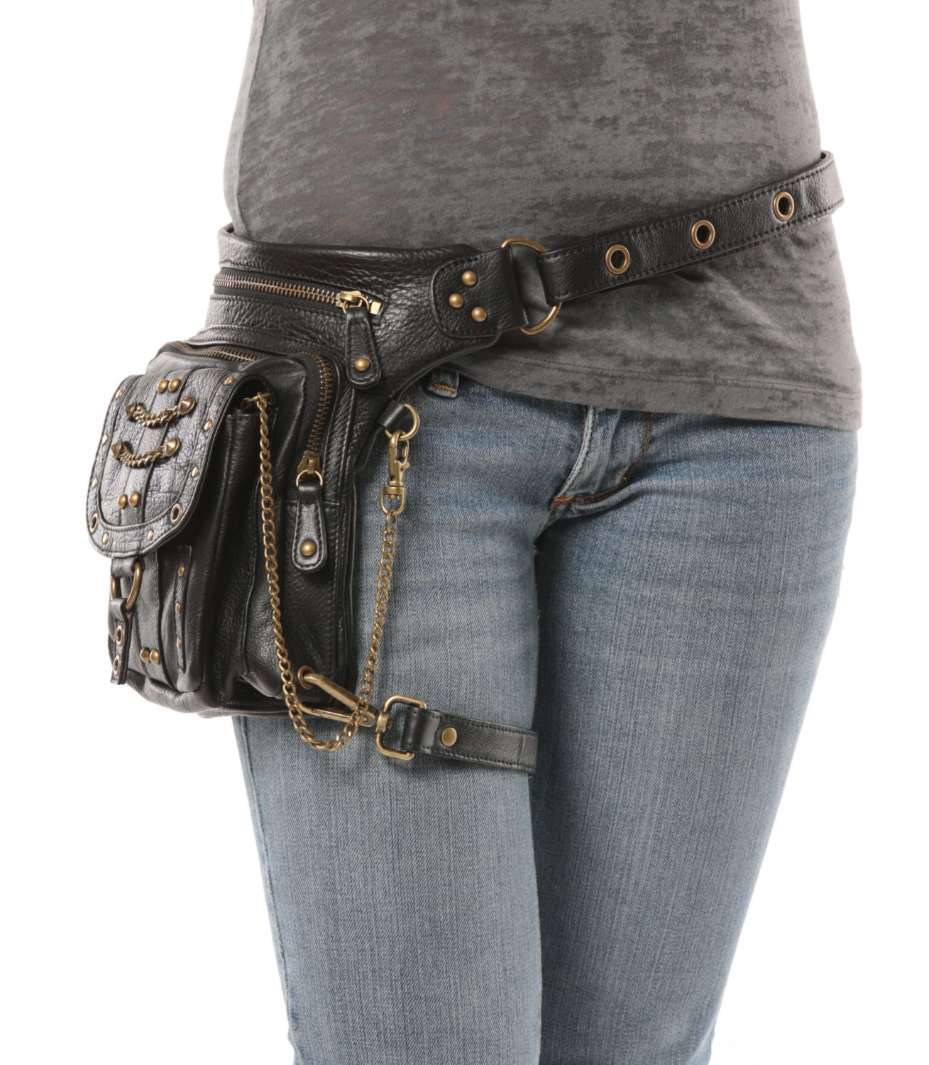 Underground Pack Black Thigh Holster Protected Purse