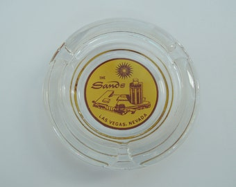 Ashtray, The Sands Las Vegas NV, Glass ash catcher, Travel souvenir, Advertisement, Ad, Excellent condition, Vintage