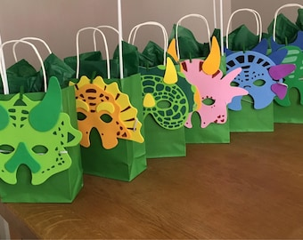 Dinosaur party bags with mask