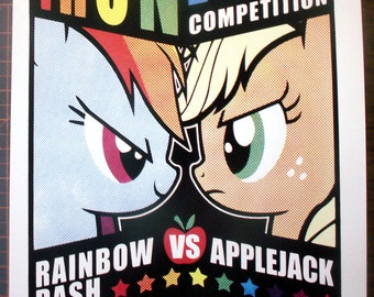 "My Little Pony ""Iron Pony Poster"" Handpulled Silkscreen Print"