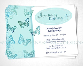 Butterfly Party Birthday or Event Invite - DIY Printable