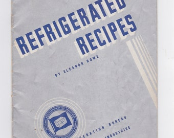 1936 modern ice refrigerated  recipes booklet