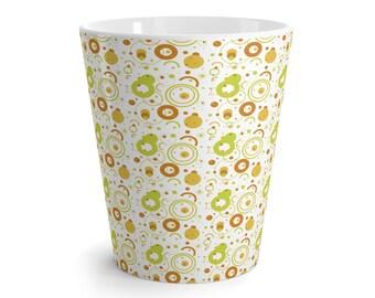 Mug Latte 12 Oz Christmas Circles Red Green