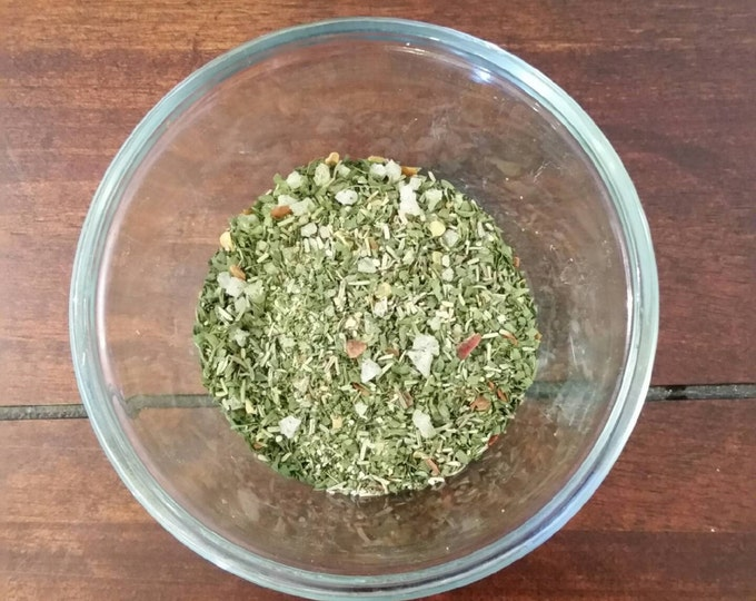 1-4 oz  EZ Mexican Spice blend of garlic sea salt oregeno and spices.  Great For marinades, add to menudo, posole or any tomato based soups