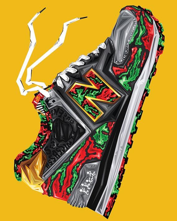 I sport New Balance sneakers to avoid a narrow path | Graph Atik