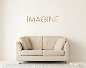 IMAGINE Wall Decal / Lennon Wall Sticker / Home Decor
