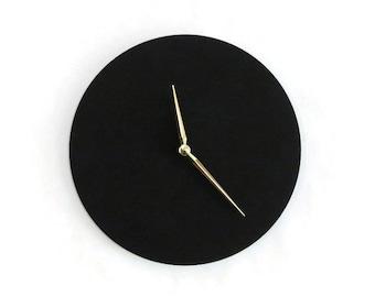 Black Wall Clock, Minimalist Home Decor,  Wood Clock, Trending, Decor and Housewares, Home and Living