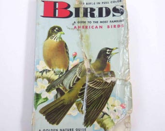A Golden Nature Guide to The Most Familiar American Birds Vintage Guide Book with Fabulous Illustrations