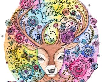 Pretty 'Beautiful Wild Soul' Print