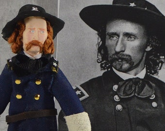George Armstrong Custer Historical Doll Miniature Civil War Era