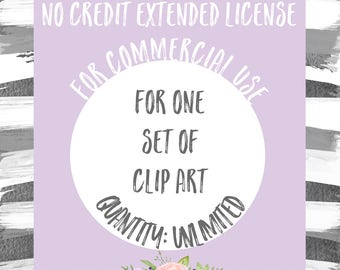 Extended License for Commercial Use of One Clipart Set - Quantity Unlimited, Commercial Use of Clip Art Sets