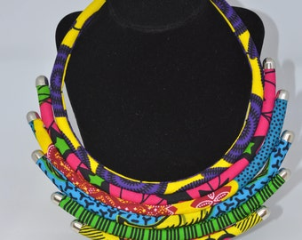 Ankara 6- step Collar necklace