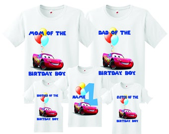 Cars family Birthday t-shirts, Personalized Cars family birthday shirt, birthday boy Cars shirt