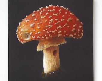 Amanita Muscaria Original Acrylic Painting