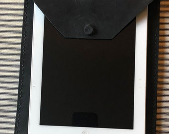 Dark Gray Leather iPad Case