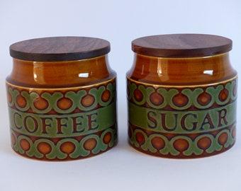Hornsea Bronte John Clappison Coffee and Sugar Storage Jars 1970's