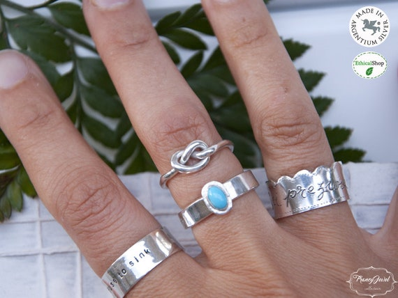 Infinity ring, band ring, knot ring, argentium, handmade ring, stack ring, bridesmaid ring, promise ring, modern ring, minimalist, unique