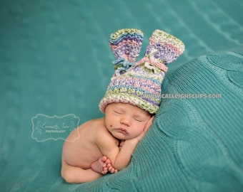 Instant Download Crochet Pattern- No. 91.1 Textured Bunny Hat ONLY Size Newborn - 4T