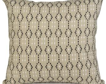 Ikat Latte Geometric  Cushions with Fillers Various Sizes 28cm , 36cm, 43cm , 60cm