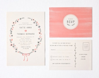 DIY Customisable and Printable Wedding Invite and RSVP card